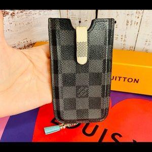 Louis Vuitton card case pouch keychain Damier